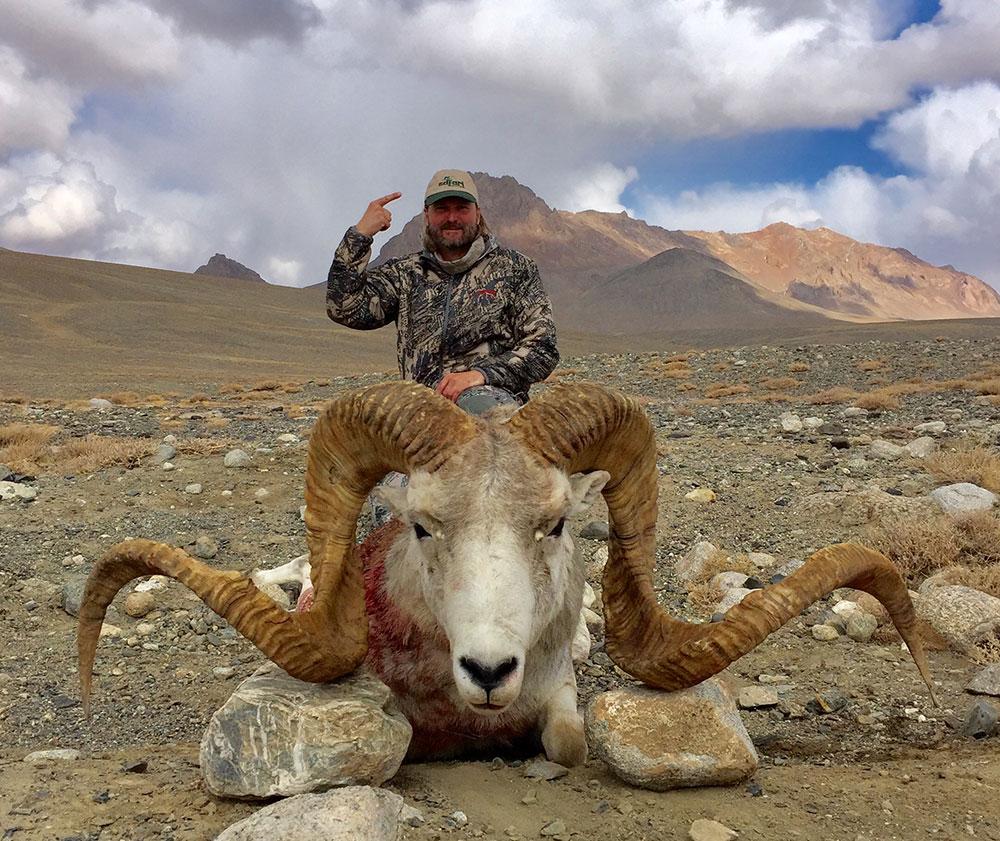 Marco Polo hunting in Tajikistan